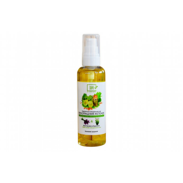 Олія для тіла виноградних кісточок з ефірною олією лаванди та пальмарози