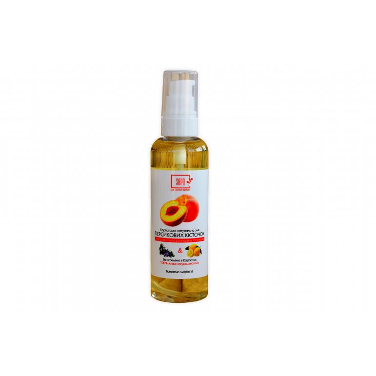 Натуральна олія  персикових кісточок з ефірною олією розмарина та лимона, 100 мл