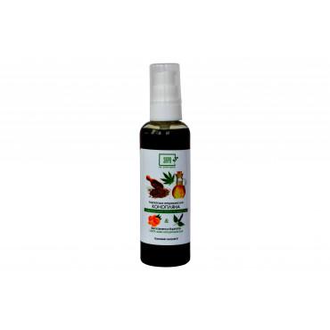 Конопляне масло для тіла з ефірною олією пачулі та апельсина