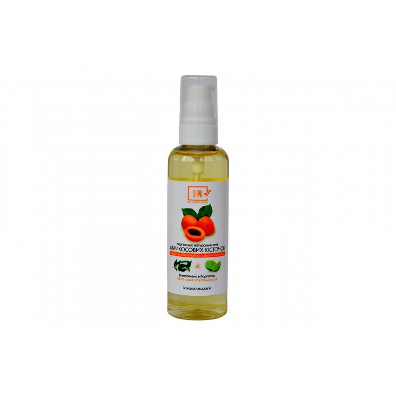 Натуральна олія для тіла абрикосових кісточок з ефірною олією чайного дерева та лайма, 100 мл