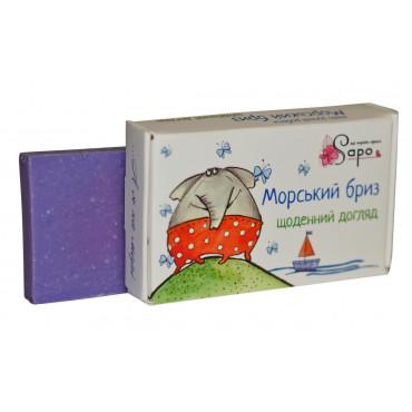 Мило ручної роботи МОРСЬКИЙ БРИЗ з сіллю Чорного моря «щоденний догляд» 50г