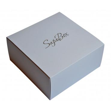 Подарункова коробка з наповнювачем (біла)