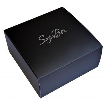 Подарункова коробка з наповнювачем (чорна)