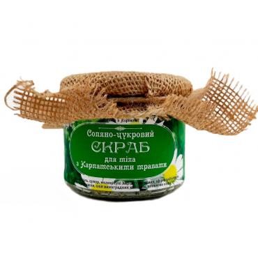 """Натуральний скраб для тіла """"З Карпатськими травами"""" 350 г"""