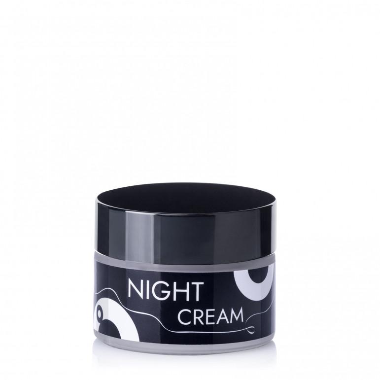 """Нічний крем для обличчя з бджолиним віском, екстрактом ламінарії та живиліними оліями, Sapo """"Night cream"""", 30 мл"""