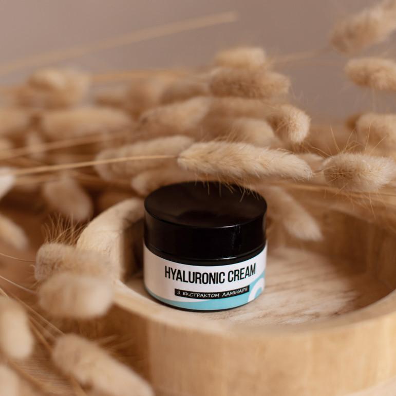 """Гіалуроновий крем для обличчя з екстрактом ламінарії та протеїнами пшениці, Sapo """"Hyaluronic cream"""", 30 мл"""
