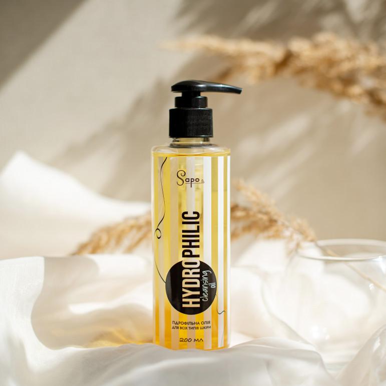 Гідрофільна олія для нормальної шкіри з п'ятьма активними оліями, Sapo, 200 ml