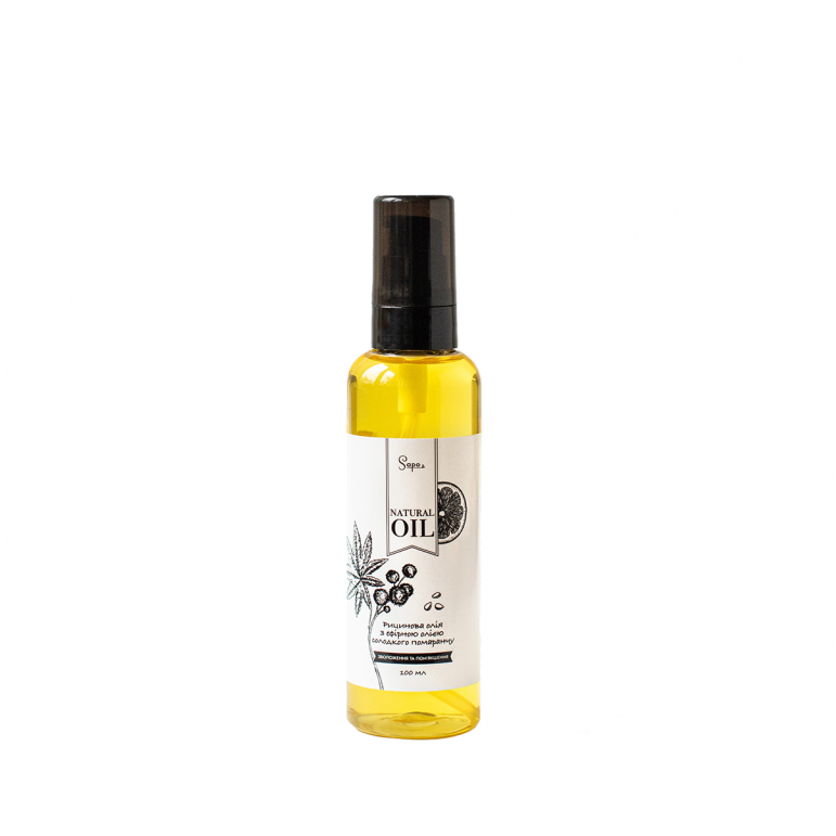 Олія рицинова олія з ефірною олією солодкого помаранчу